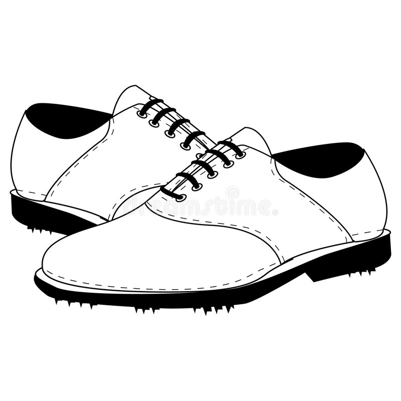 Cleats with clipping path. Illustration with clipping path royalty free illustration