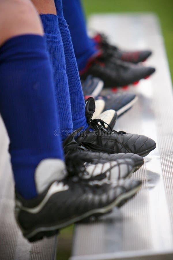 Cleats van het voetbal stock foto