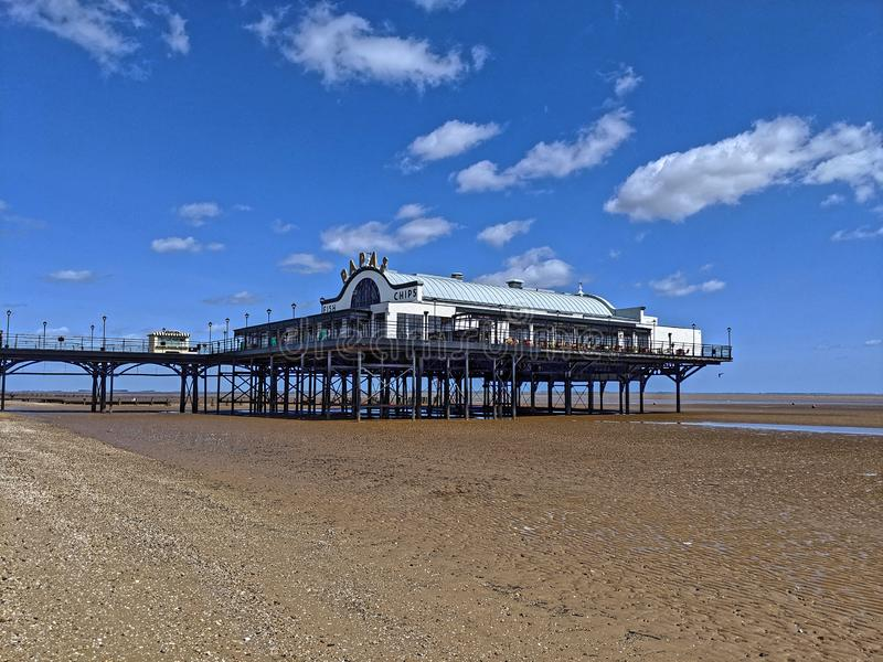 Cleethorpes Pier in Lincolnshire stock images