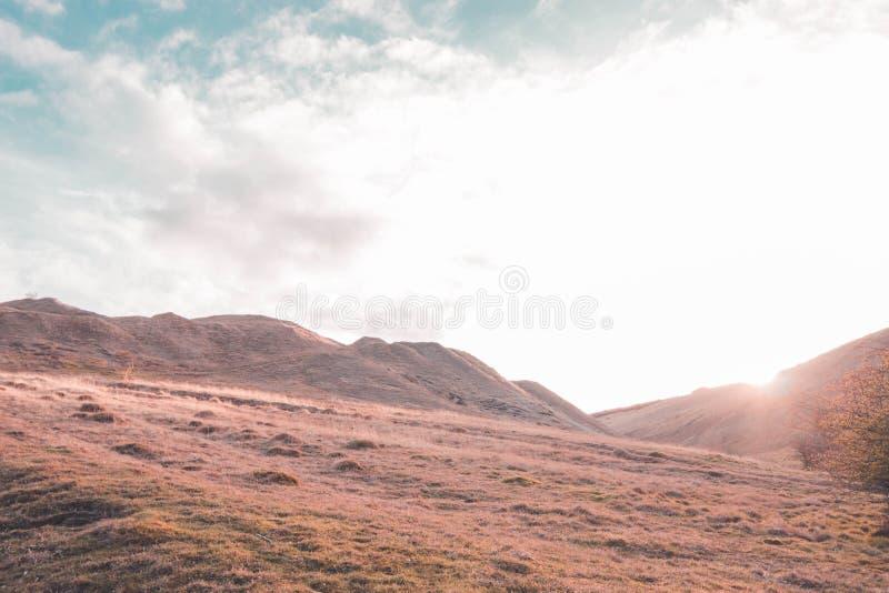 Cleeve wzgórza zmierzch zdjęcia royalty free