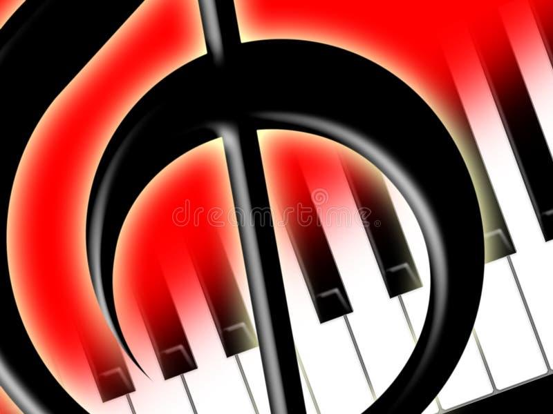 clef πρίμο πιάνων πλήκτρων ελεύθερη απεικόνιση δικαιώματος
