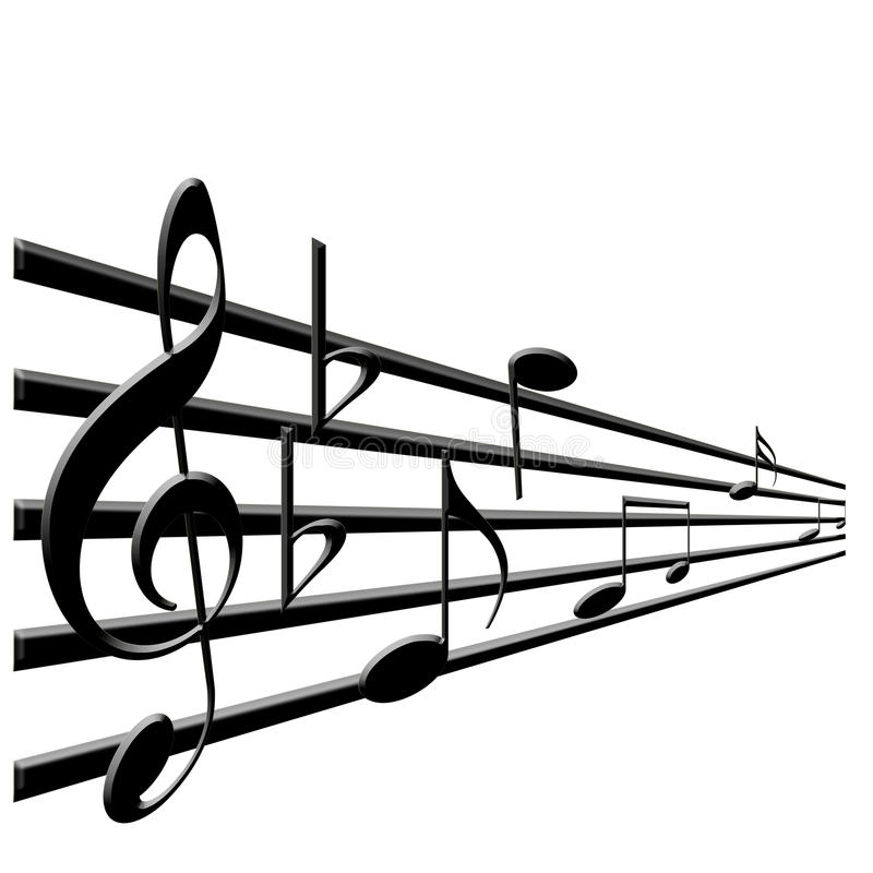 clef πρίμο σημειώσεων μουσι&kappa διανυσματική απεικόνιση
