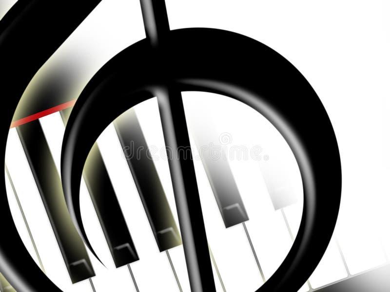 Download Clef пользуется ключом Treble рояля Иллюстрация штока - иллюстрации насчитывающей clef, тень: 18385933