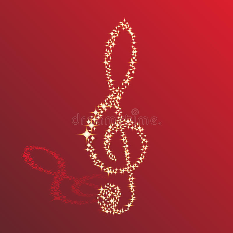 Clef. Musical notes clef vector background for use in design stock illustration
