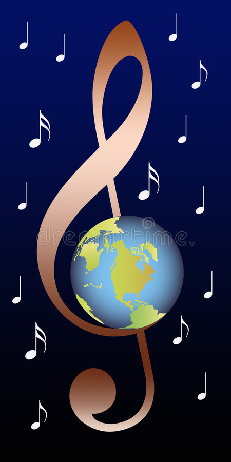 Download Clef with earth stock illustration. Image of earth, chord - 4594492