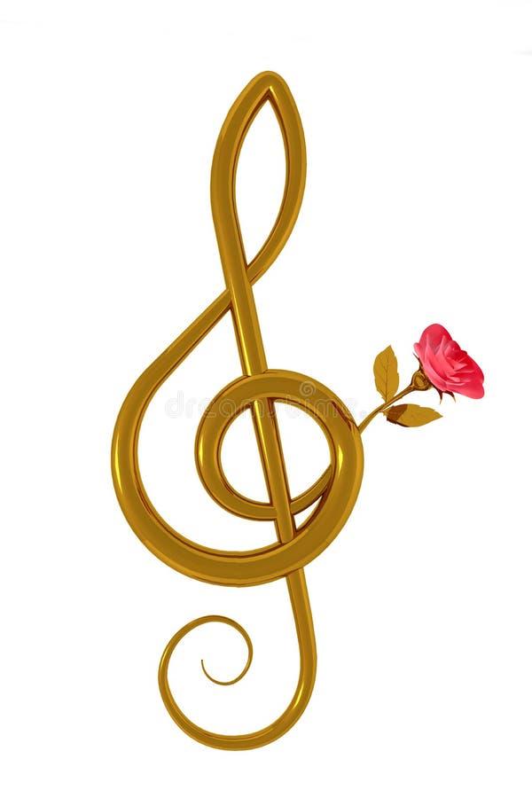 clef menchii różany treble ilustracja wektor
