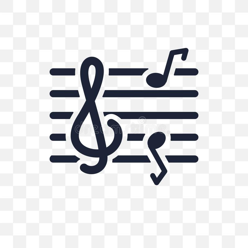 Clef transparent icon. Clef symbol design from Music collection. Simple element vector illustration on transparent background royalty free illustration