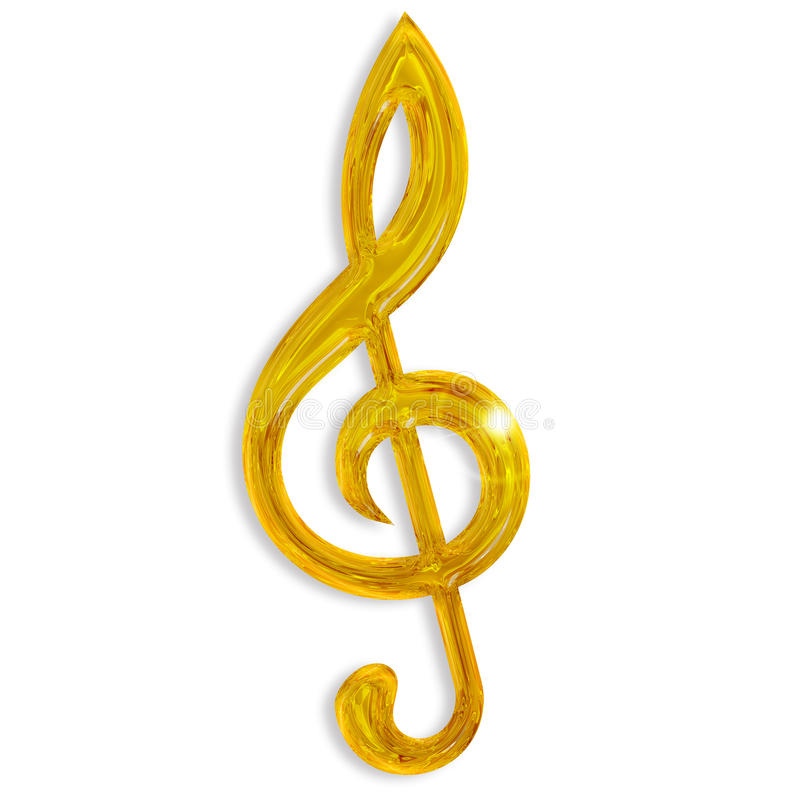 Clef triple d'or illustration de vecteur