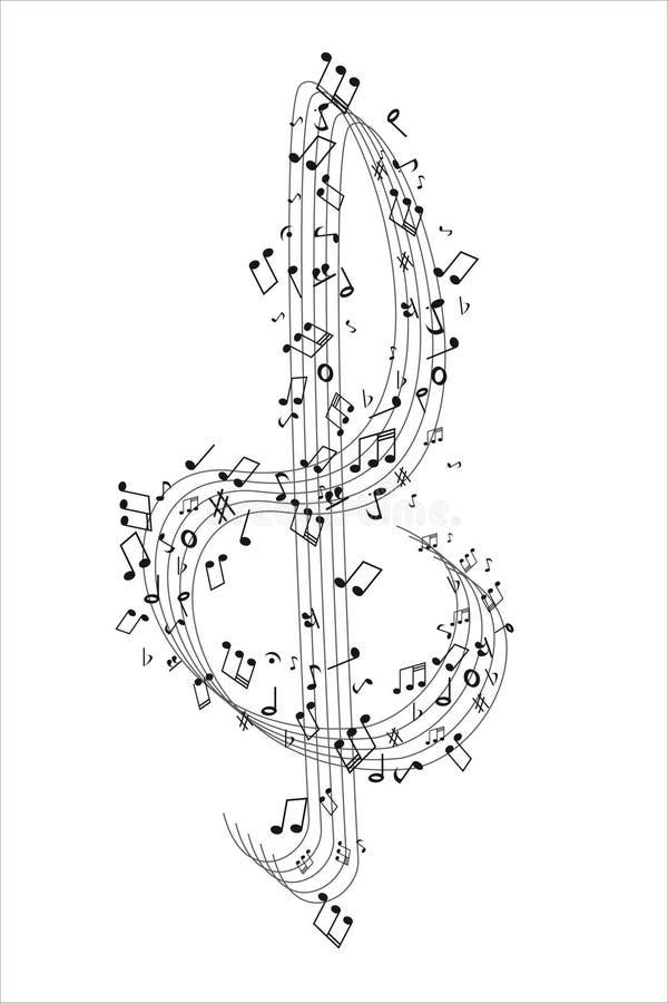 cleff muzyka zauważa treble ilustracji