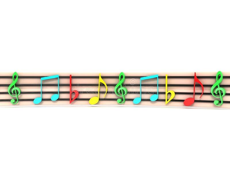 Clefs musicales coloridos ilustración del vector