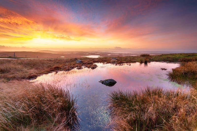 Cleitreabhal un 'Deas en las islas occidentales de Escocia foto de archivo libre de regalías