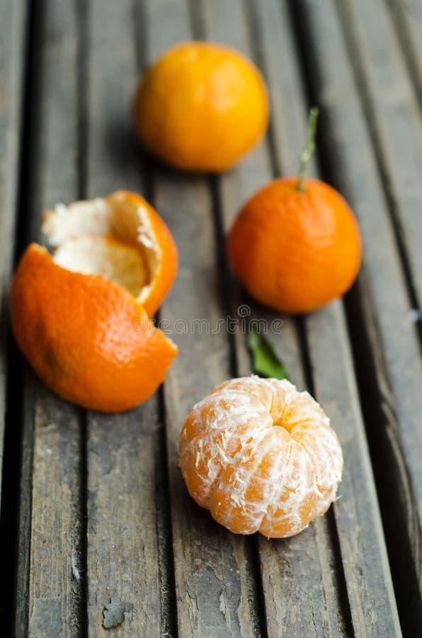 Clementina pelada imagen de archivo libre de regalías