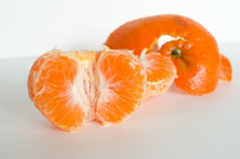 Clementine och peelen royaltyfria bilder