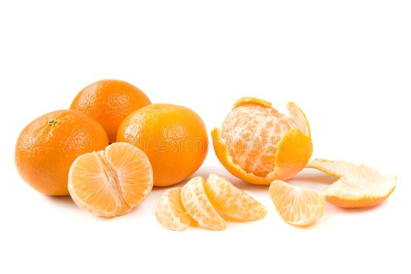Clementine su bianco immagini stock libere da diritti