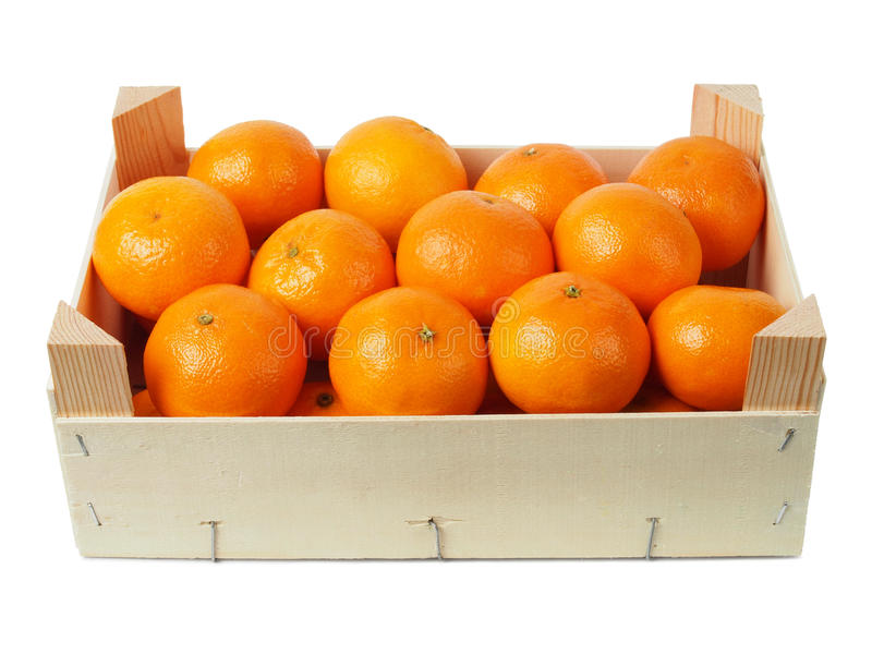 Clementine in una scatola immagine stock libera da diritti