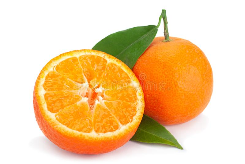 Clementinecitrusfrukt på vit arkivbild