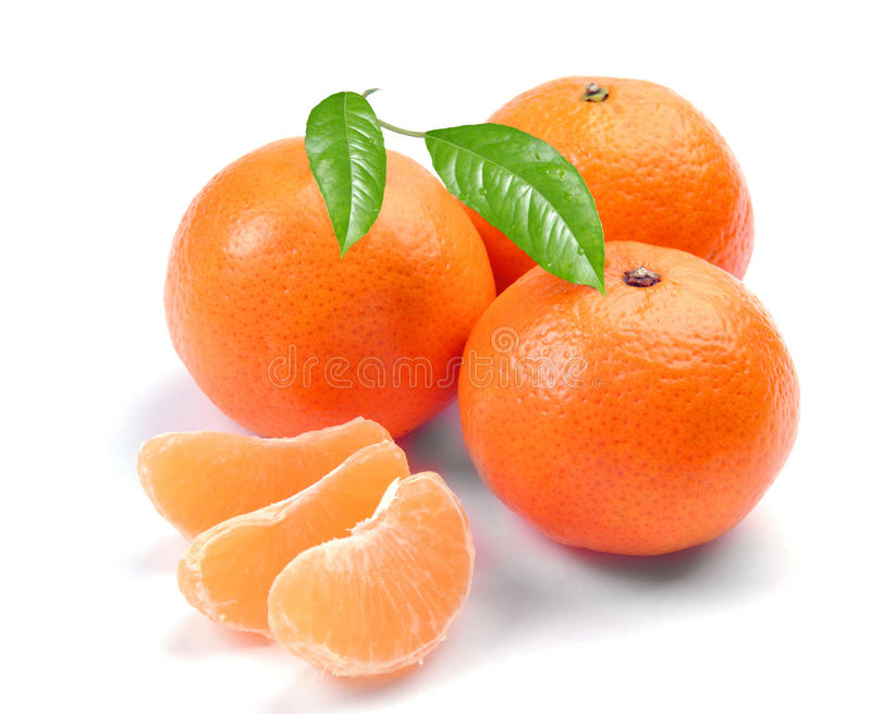 Download Clementines with segments stock photo. Image of leaves - 12274366