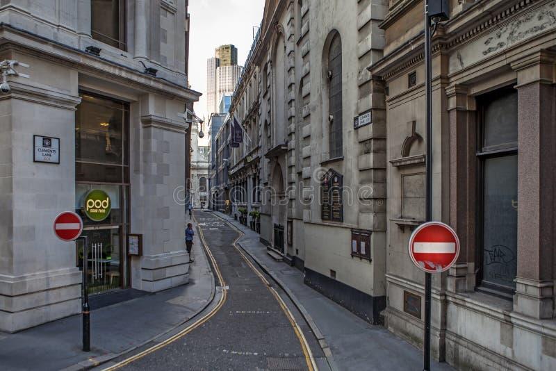 Clements Lane London Street stock foto