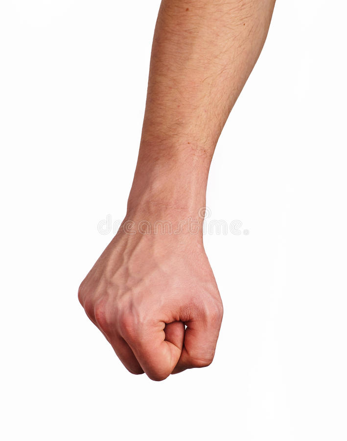 Clenched fist royalty free stock photos