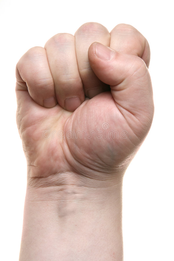 Clenched fist stock images