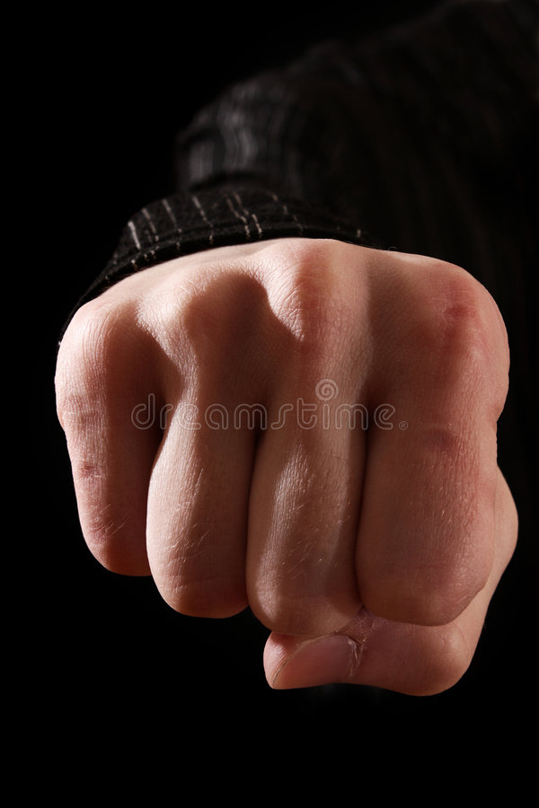 Download Clenched fist stock photo. Image of punch, male, black - 8859374