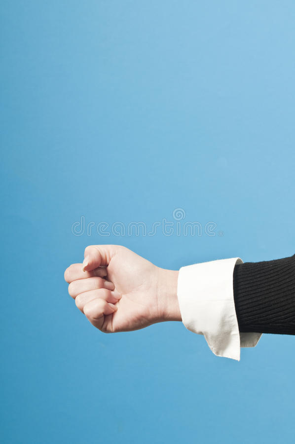 Clenched fist of businessman