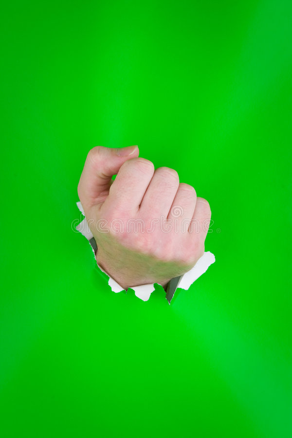Download Clenched fist on green stock photo. Image of indoors, caucasian - 7650804