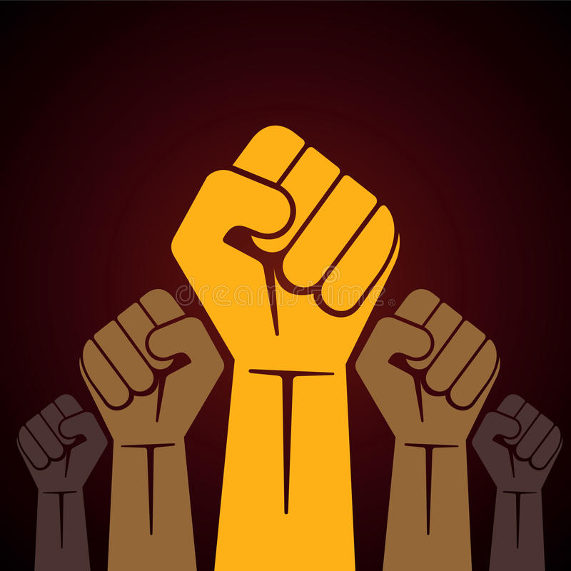 Free Clenched Fist Held In Protest Illustration Stock Image - 33126281