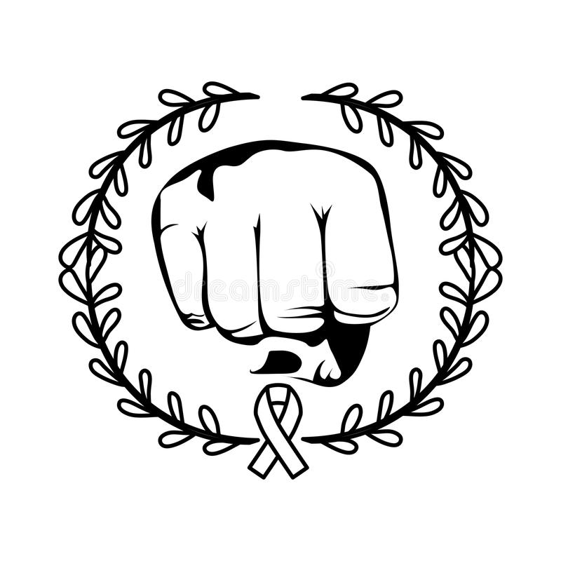 Clenched Fist Symbol Stock Illustration Illustration Of Isolated