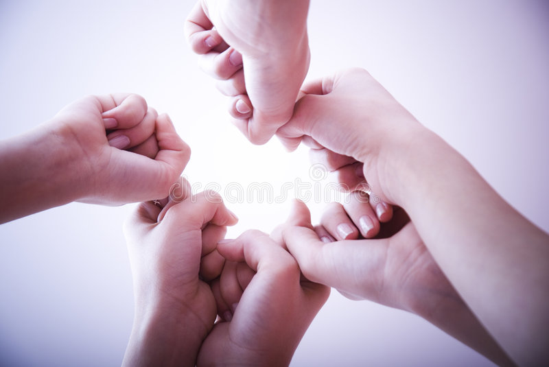 Clenched fists. Hands with clenched fists royalty free stock images