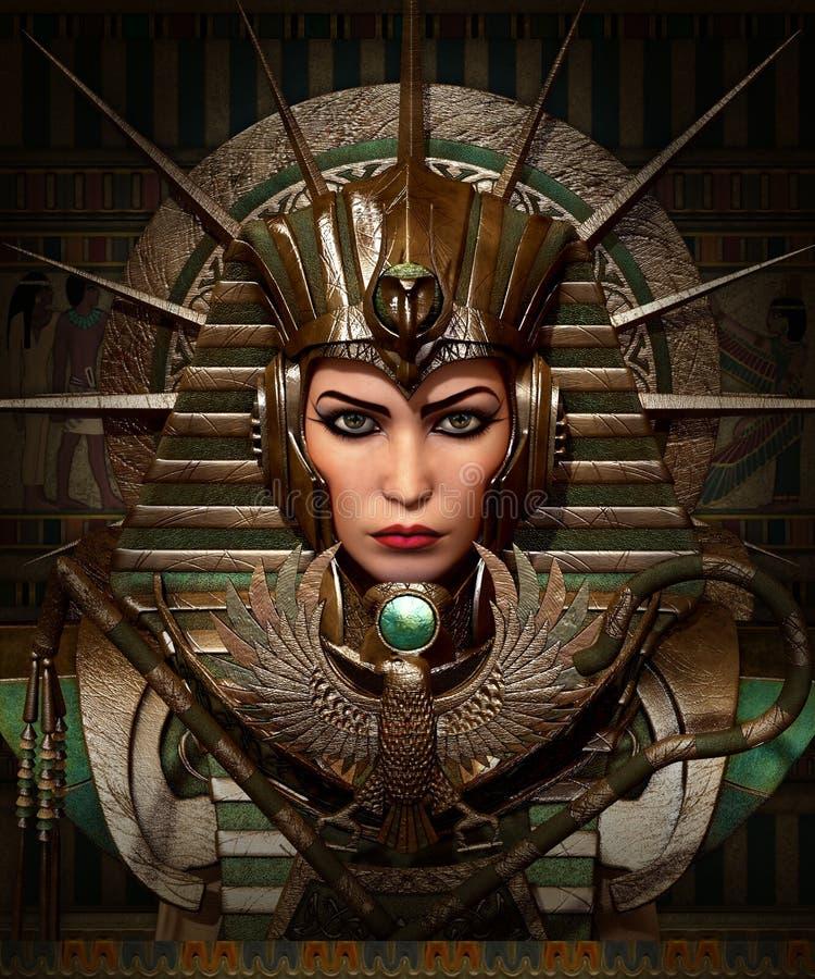 Cleo och Horus, 3d CG vektor illustrationer