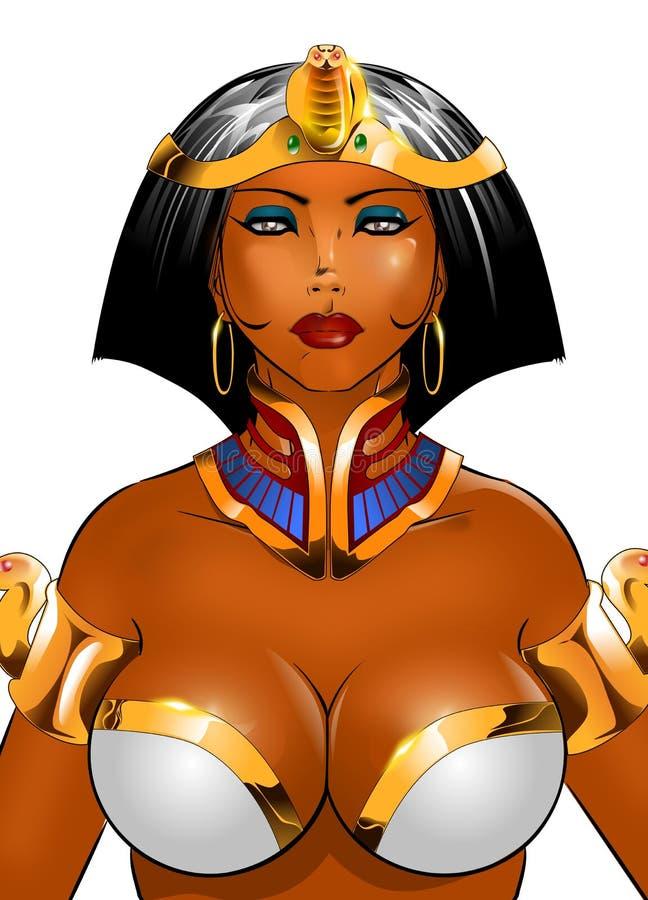 cleopatra关闭 库存例证