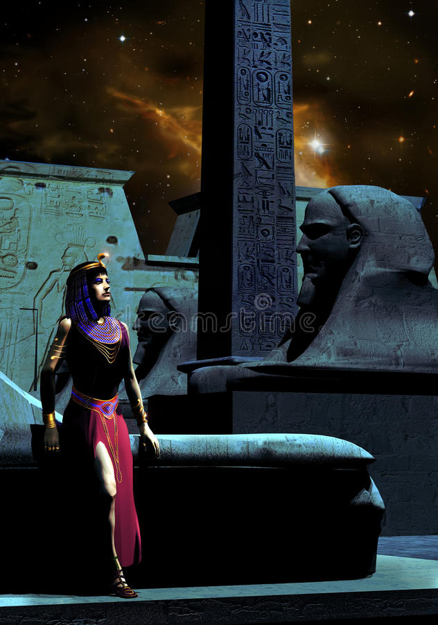 Download Cleopatra stock illustration. Image of style, palace - 22412654