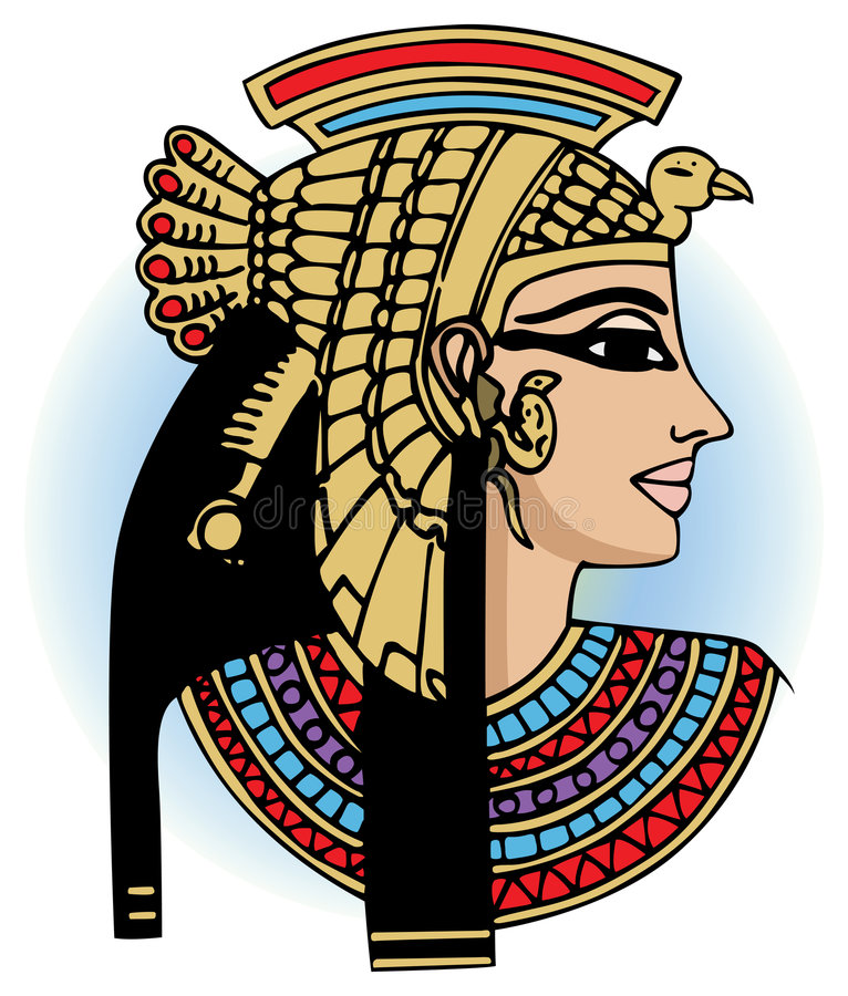 Download Cleopatra stock vector. Image of archeology, statuette - 4572036
