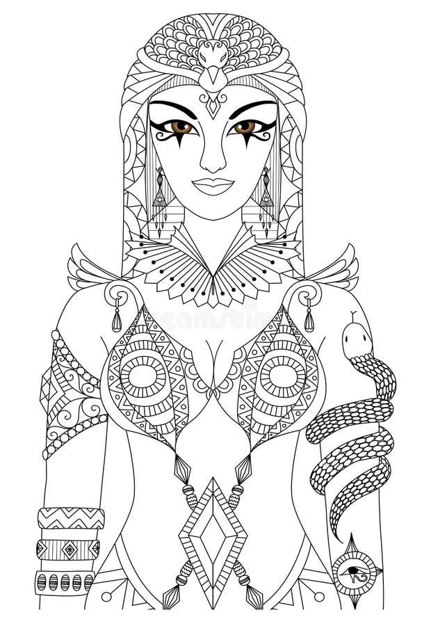 cleopatra ilustração stock
