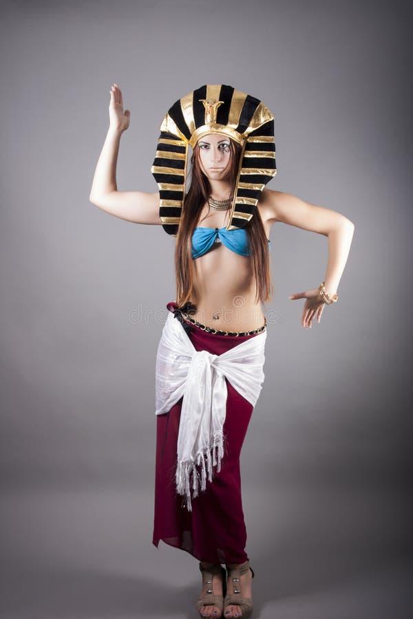Cleopatra. dans zoals een Egyptenaar stock afbeelding