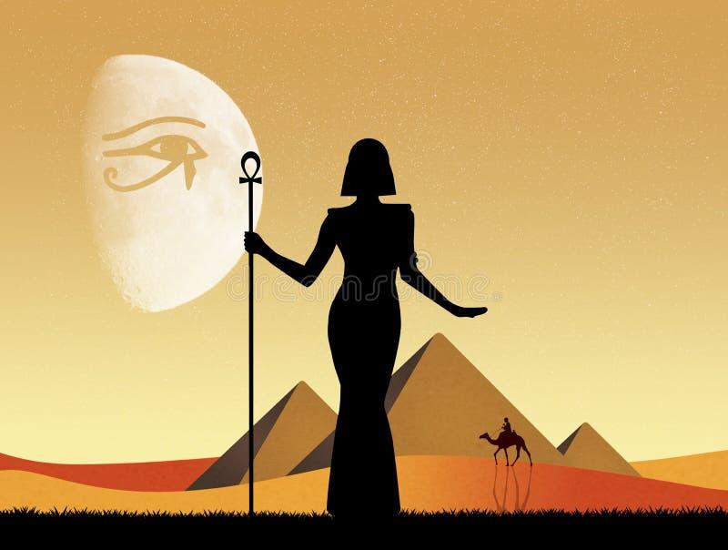 Cleopatra Egyptian Queen vektor abbildung
