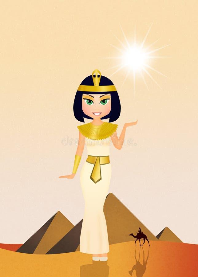 Cleopatra Egyptian Queen ilustração royalty free