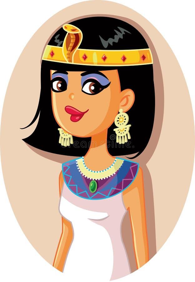 Cleopatra Egyptian Queen Vector Illustration stock abbildung