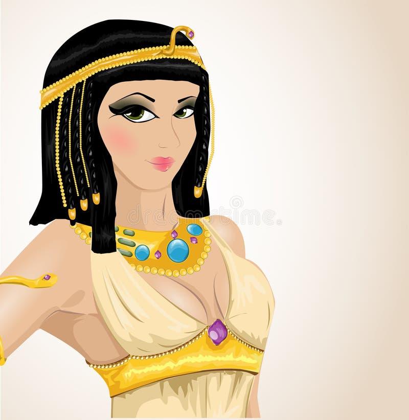Cleopatra ilustrada ilustração royalty free
