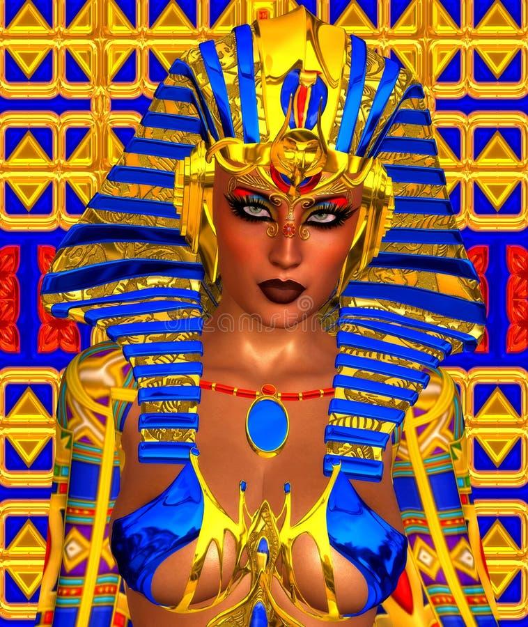 Cleopatra ou algum faraó egípcio da mulher ilustração do vetor