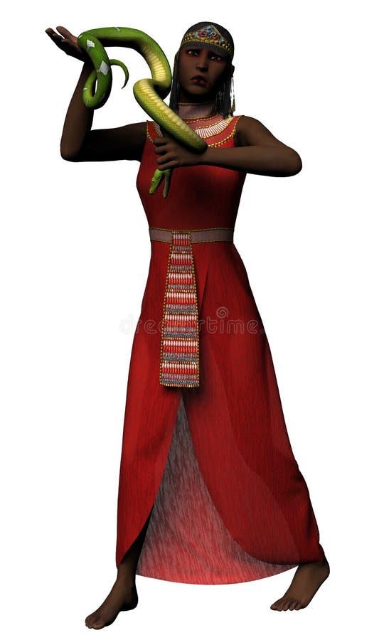 Cleopatra que prende o asp ilustração royalty free