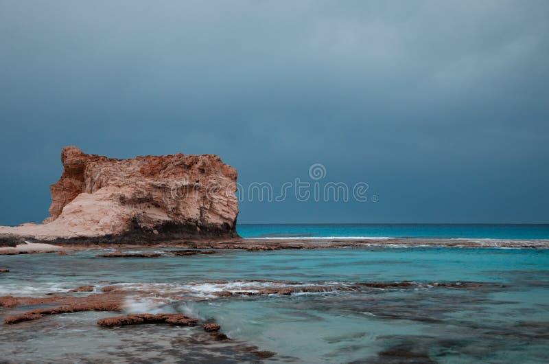 Cleopatra's beach lagoon near Marsa Matruh, egypt royalty free stock image