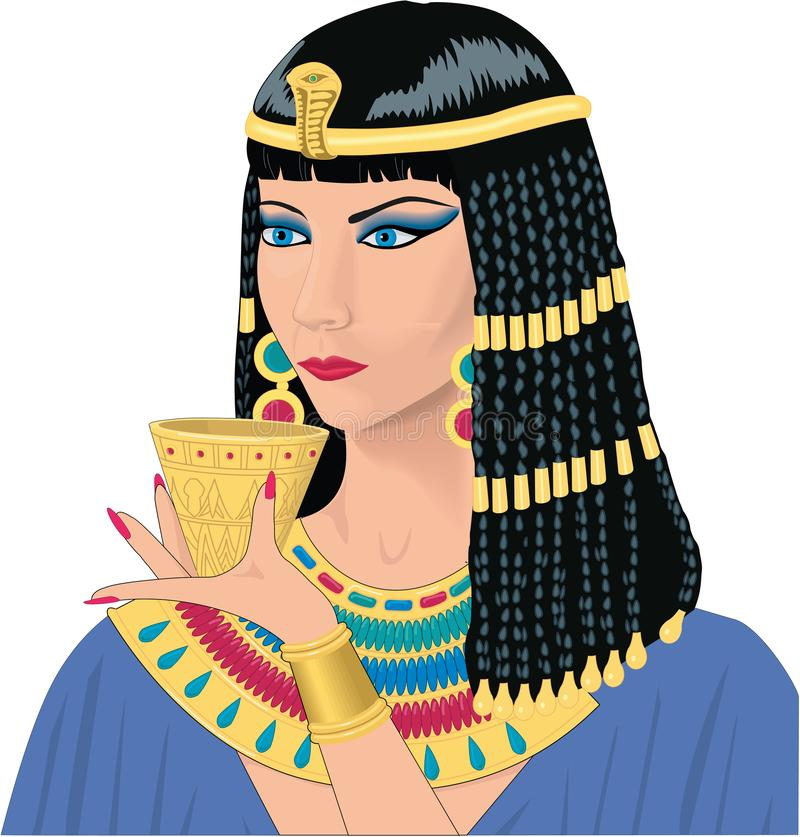 Cleopatra Vetora Illustration ilustração do vetor