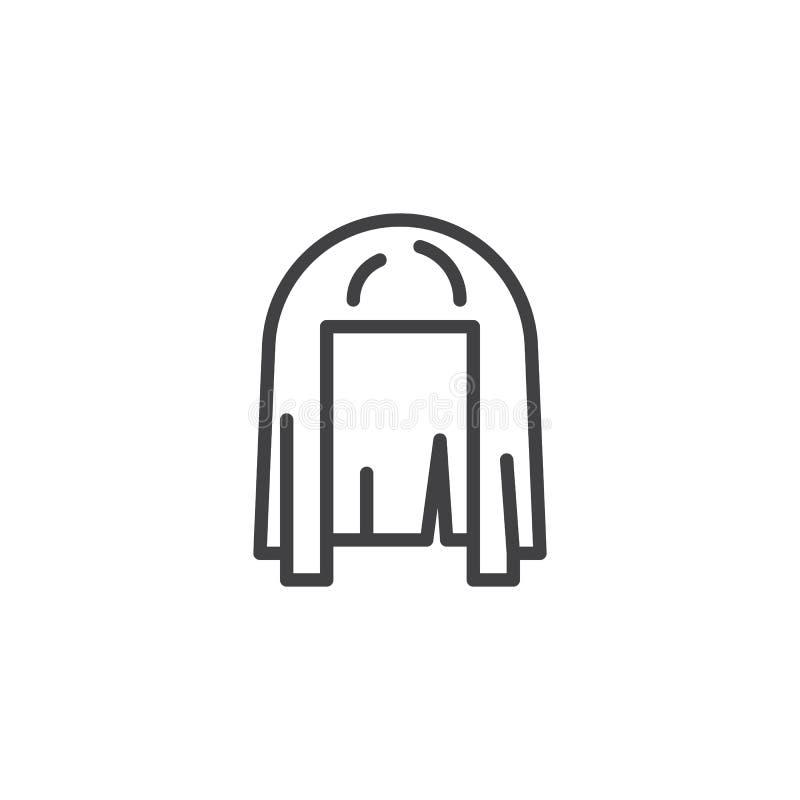 Cleopatra Wig-Entwurfsikone lizenzfreie abbildung