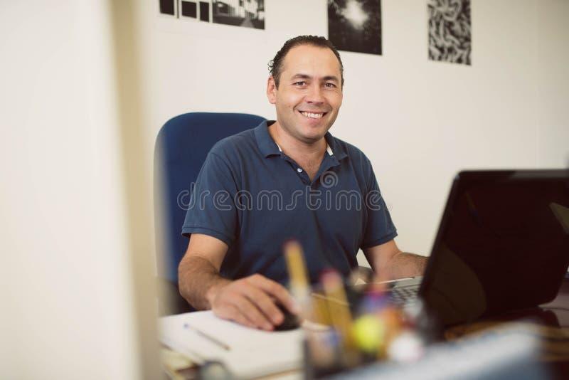 Clerck przy biurkiem fotografia royalty free