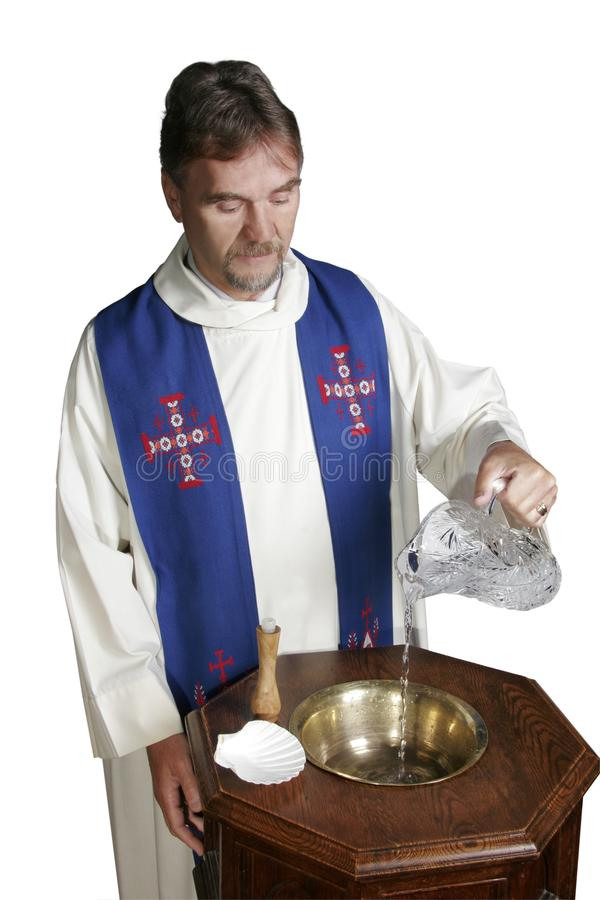 Clergy Pours Water stock images