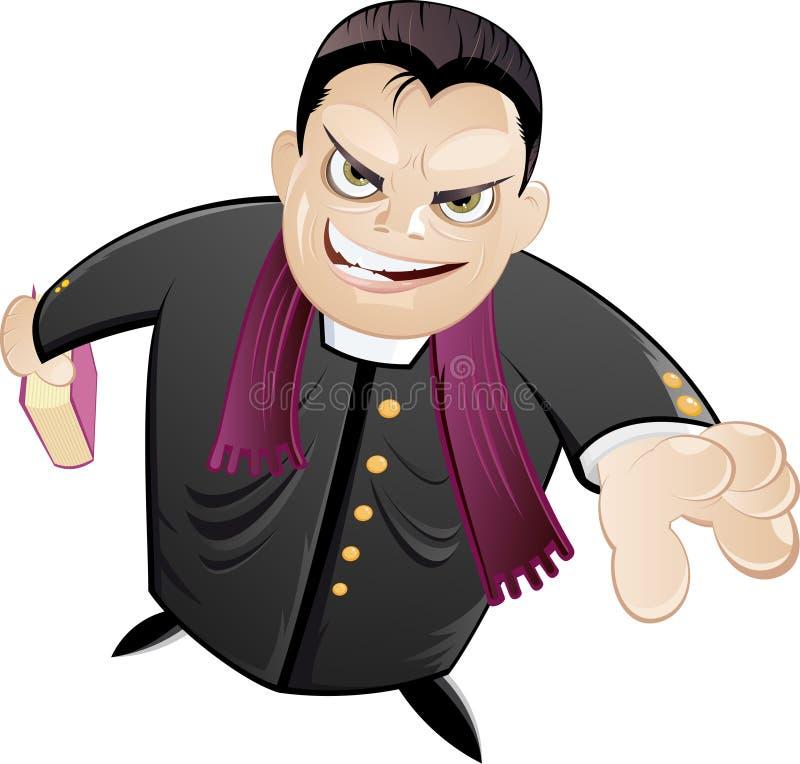 clergyman scary εφημέριος απεικόνιση αποθεμάτων