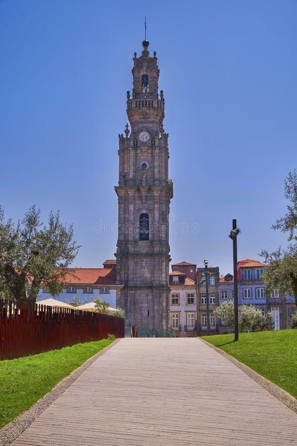 Clerigos塔Torre dos Clerigos,波尔图,葡萄牙 库存图片