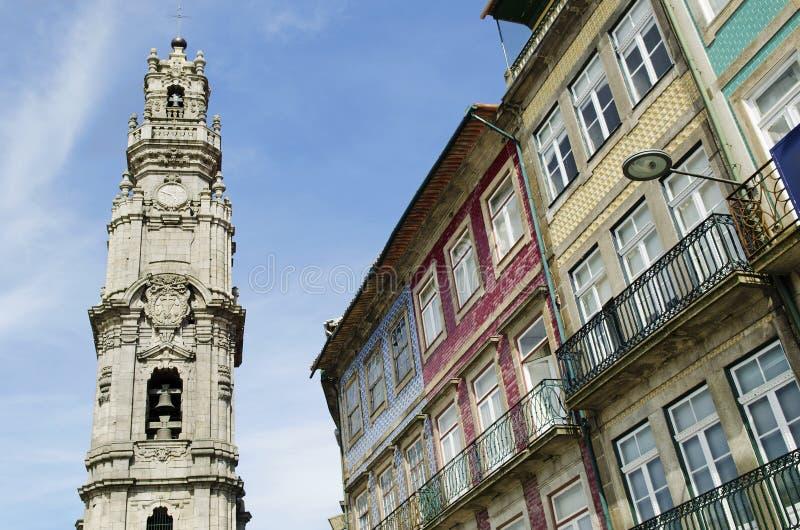 Clerigos Kontrollturm in Porto Portugal stockfoto